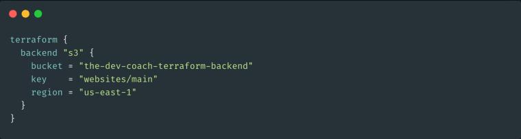 Terraform Backend Configuration