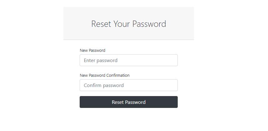 Reset Form