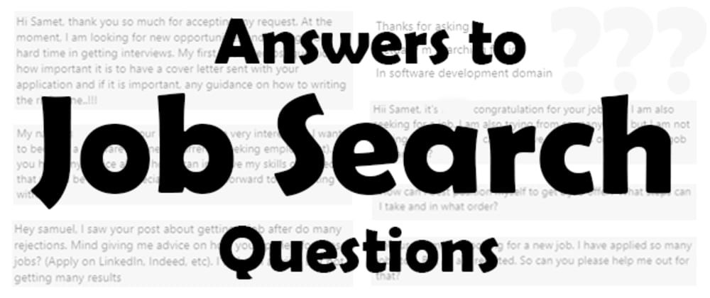 Cover image for Answers to Job Search Questions