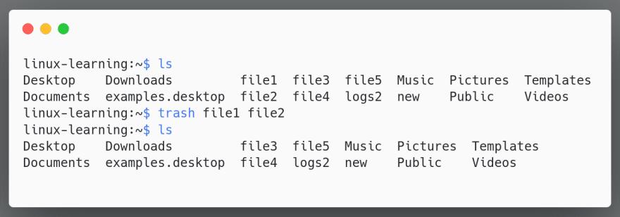 trash-multiple-files