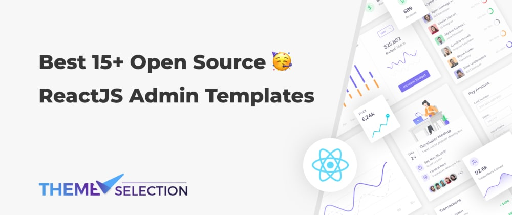 Cover image for Best 15+ Open Source ReactJS Admin Templates 2021💥
