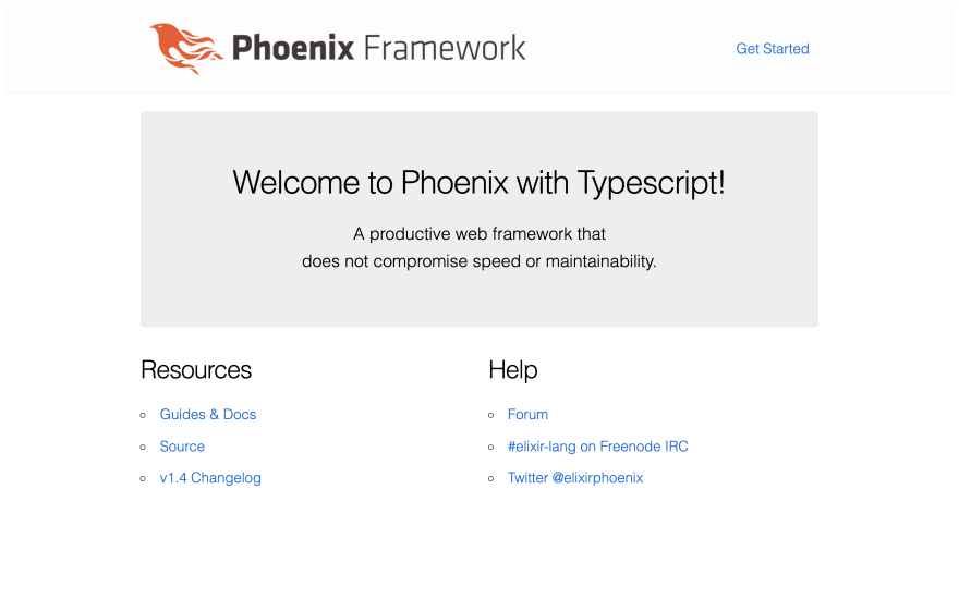 Welcome to Phoenix with Typescript!