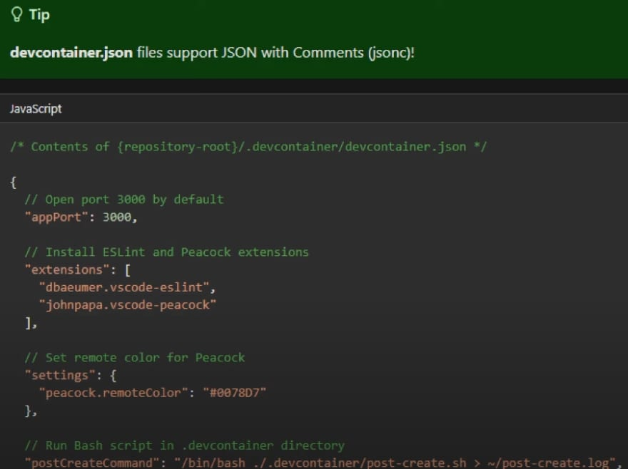 DevContainer.json