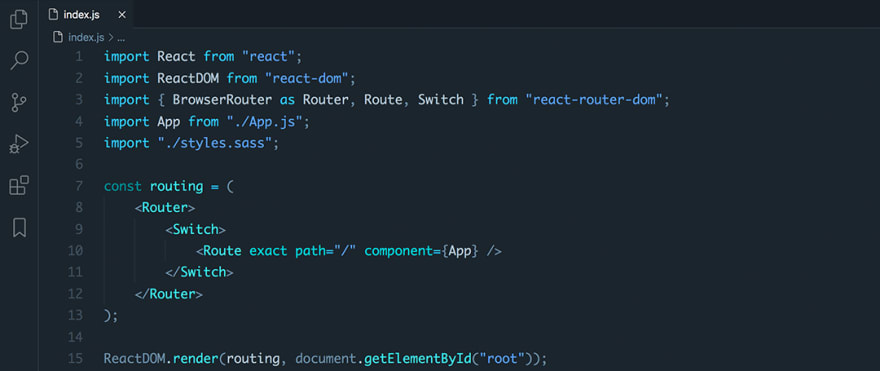 React code snippet with the City Lights theme