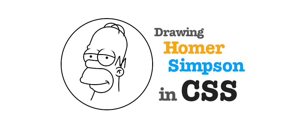 Cover image for Drawing Homer Simpson using circles in CSS