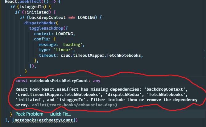 react hooks typescript lint