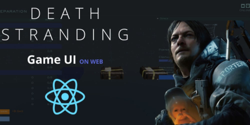 How to reproduce Death Stranding UI with react and react-three-fiber