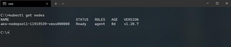 One node cluster in AKS