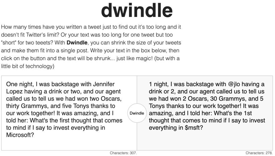 Screenshot of dwindle after replacing some text, the translated part is plain text