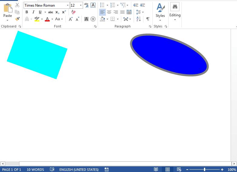 Rotating shapes