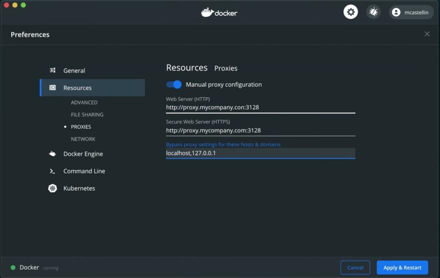 docker desktop proxy settings