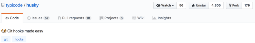 Screen shot of husky Github title