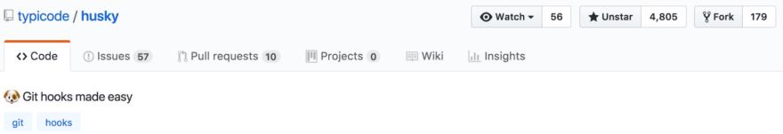 Screen shot of husky Github title