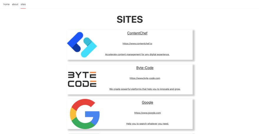 Svelte example app
