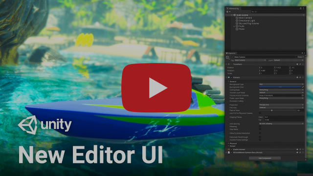 New Editor UI in Unity 2019.3! (Overview)