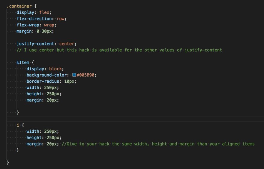 A little trick to left align items in last row with Flexbox