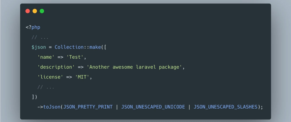 Cover image for Quick Tip: Creating pretty JSON files with Laravel