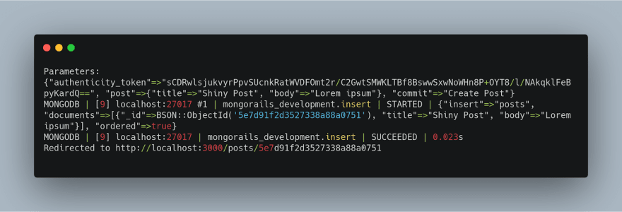 rails mongodb integration - insert query