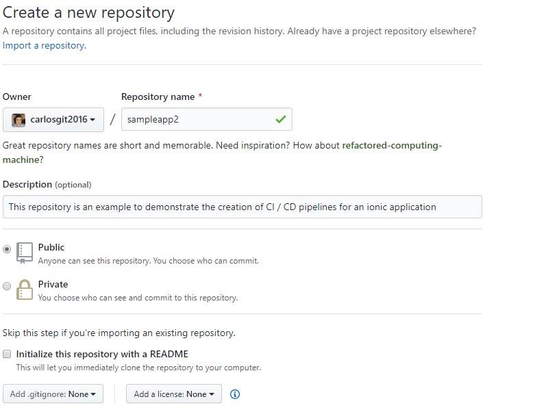 Create New Github Repo