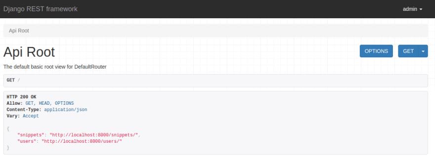 DRF API root