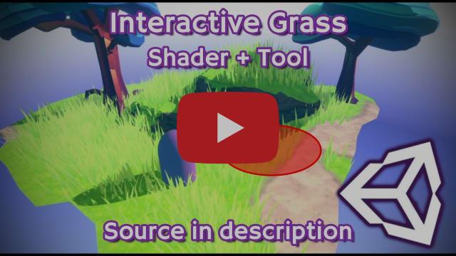 Unity - I made an Interactive Grass Shader + Tool