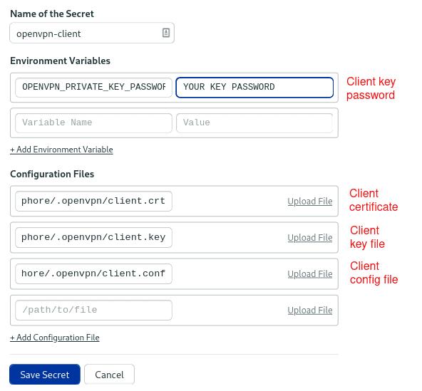 openvpn-client secret