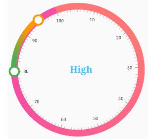Applying gradient colors to the slider track in Radial Range Slider