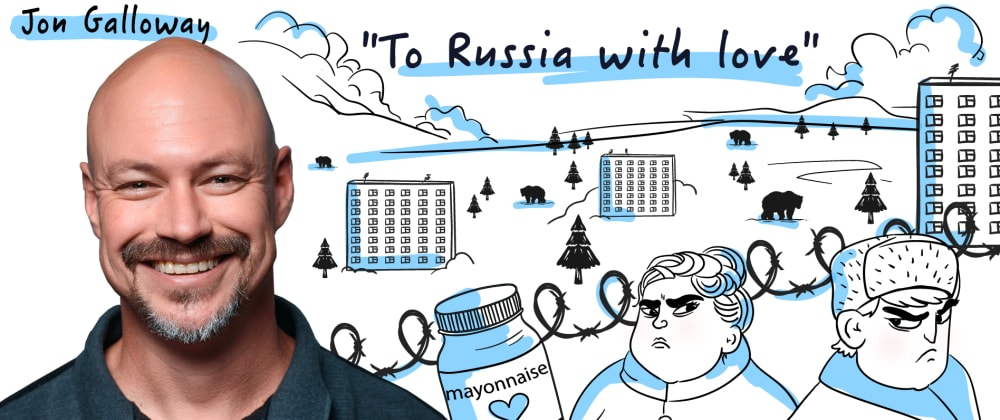 """Cover image for """"I thought it would be more of an old Soviet kind"""" — Jon Galloway on the Russian visa process, Sovietness, and tech conferences"""