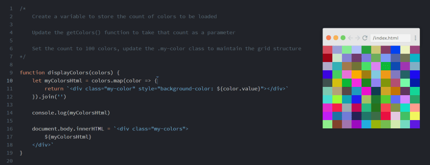 Scrimba Interactive Hex API note
