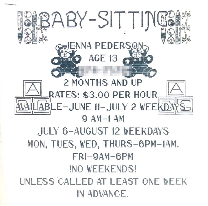 Babysitting Business Flyer
