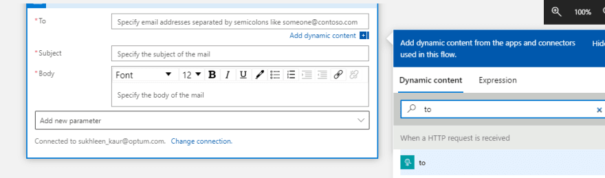dynamic content dialog box