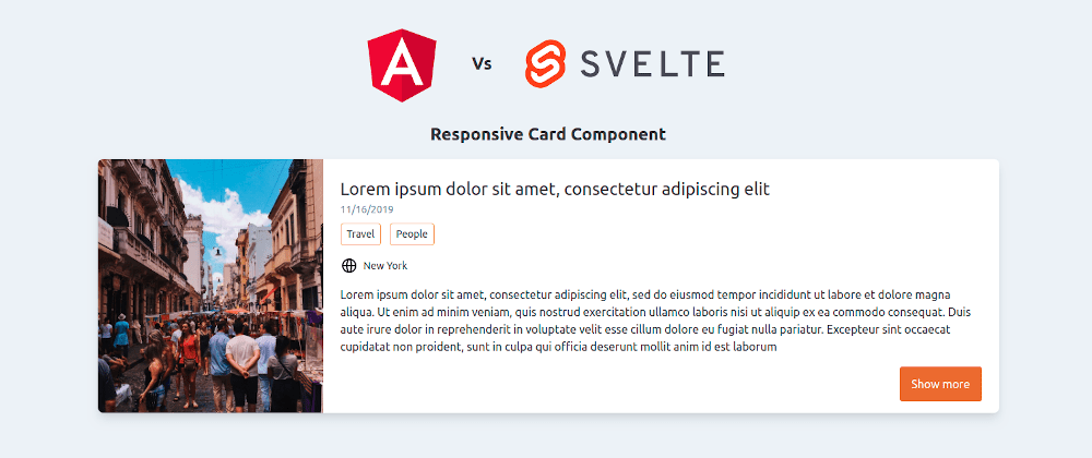 Angular vs Svelte - Card Component