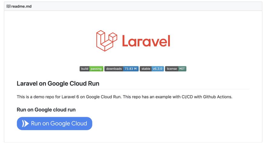 Repo with Run on Google Cloud Button
