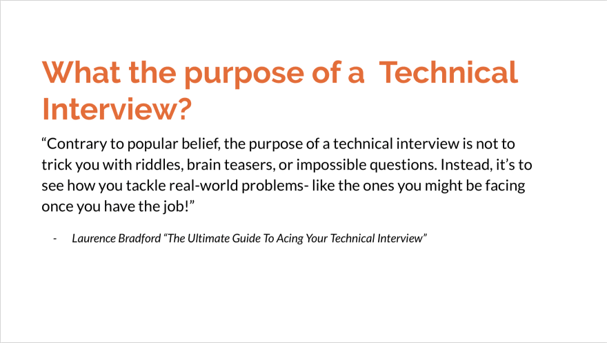 what is the purpose of a technical interview