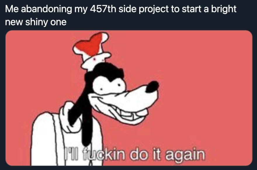 Abandoning Side Projects Image