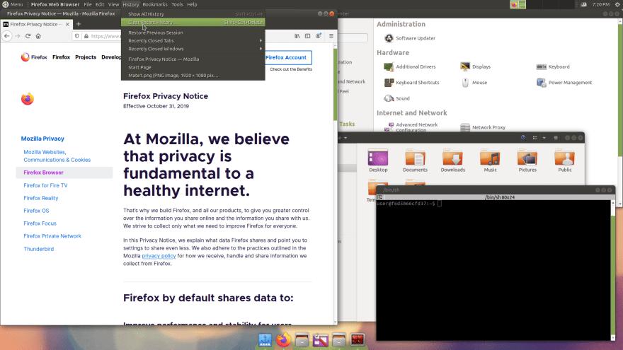 Mate Desktop started by DX11