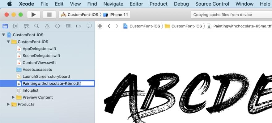 Copy font file name