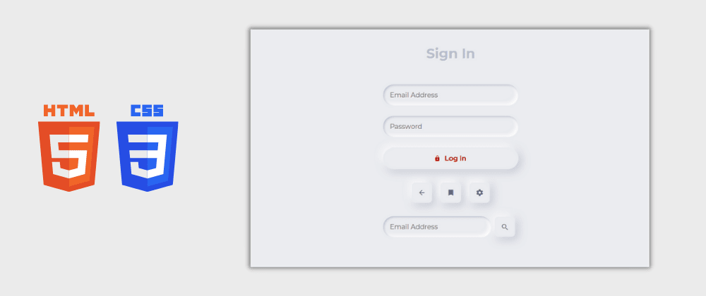 Cover image for Day 15/30 : Neumorphic Login Form Design using HTML and CSS