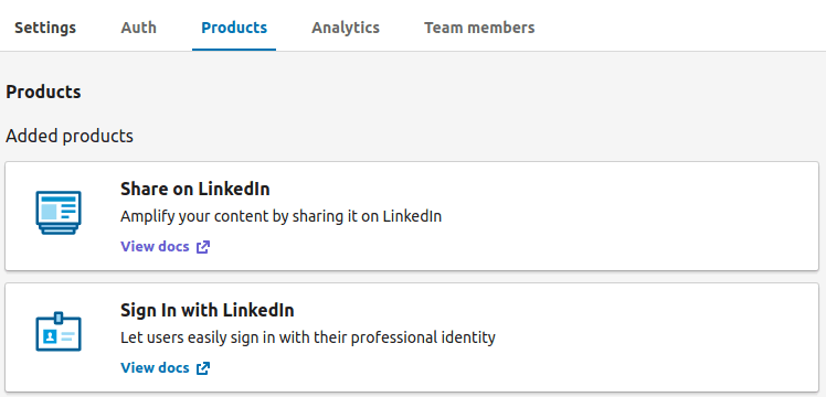 Permissions in LinkedIn application