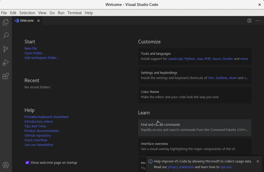 Visual Studio Dashboard