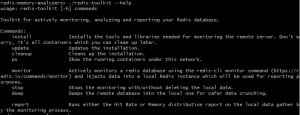 Help section of Redis Toolkit
