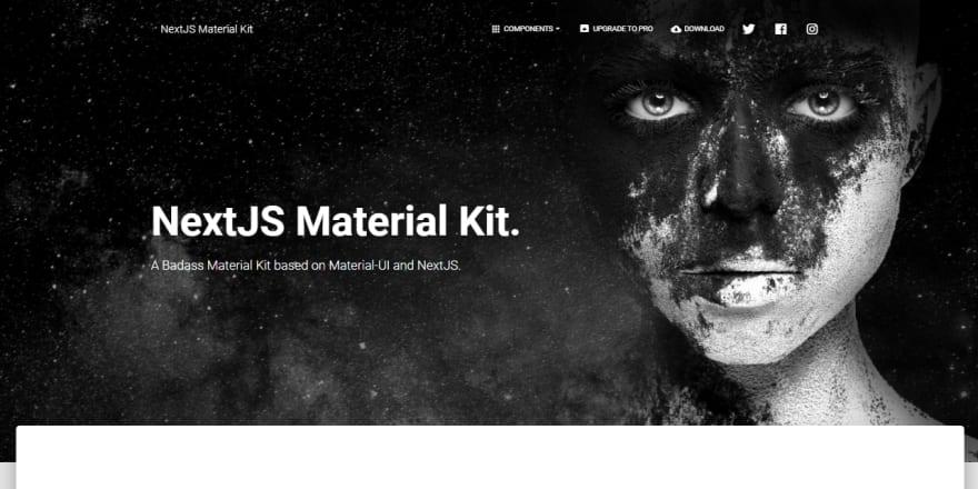 Next.js Template - Material Kit React (Free Product).