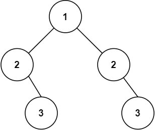 tree example unsymmetrical