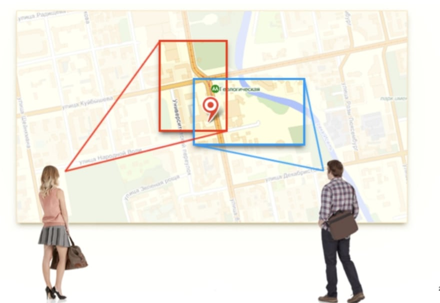 Example from Yandex maps