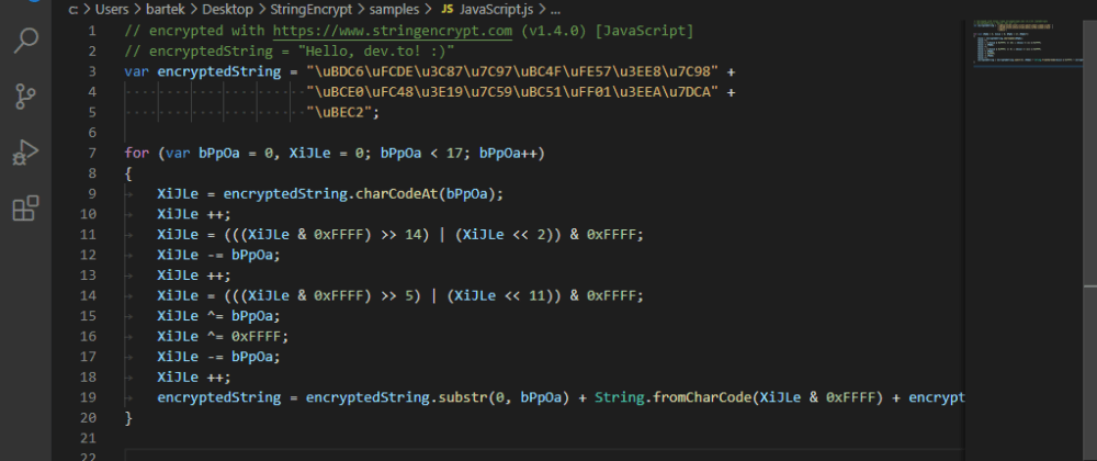 Cover image for How to encrypt strings & files in your source code?