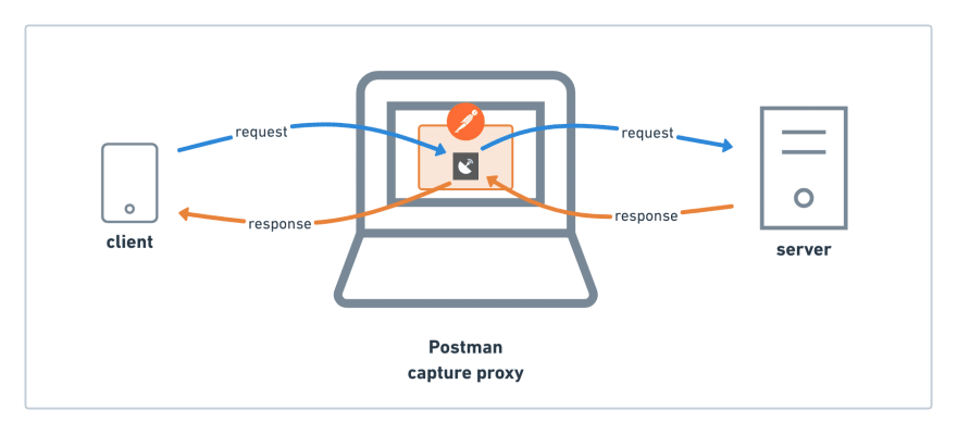 Postman is a proxy that captures the HTTP/S request