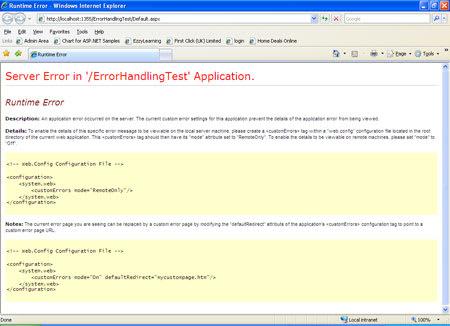 client error page