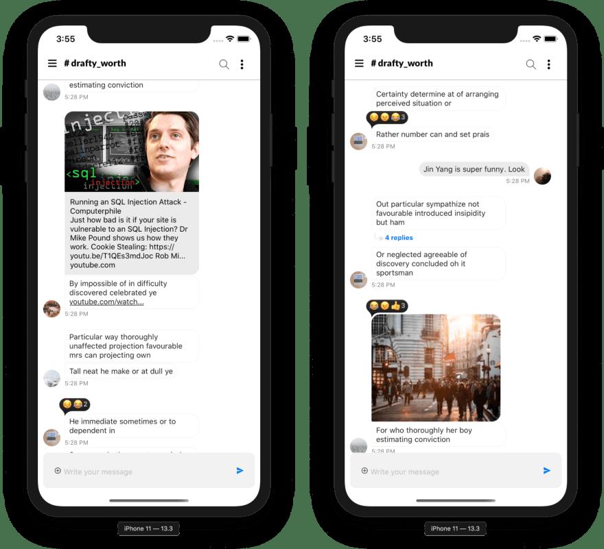 Stream Chat Slack Clone - Reactions
