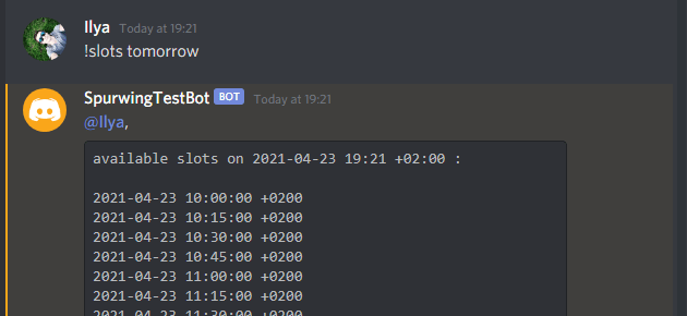 appointment scheduling discord bot