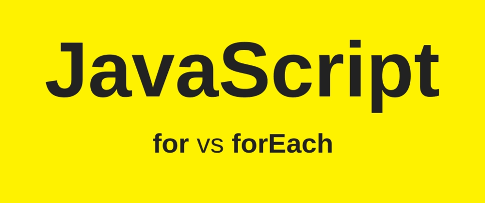 "Cover image for ""for"" vs. ""forEach"" and the value of documentation"